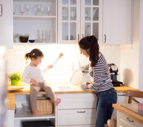 LED lighting is part of an ideal kitchen