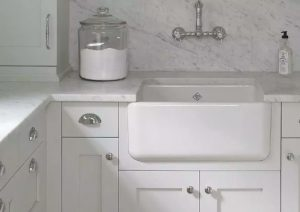 When choosing a sink for your kitchen remodel fire clay sinks are handmade from a special white clay