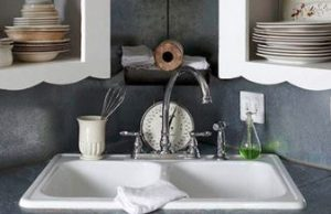 When choosing a sink for your kitchen remodel porcelain enamel-coated cast iron is indestructible