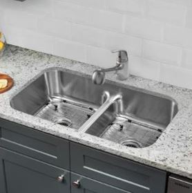 When choosing a sink for your kitchen remodel stainless steel is the most popular material