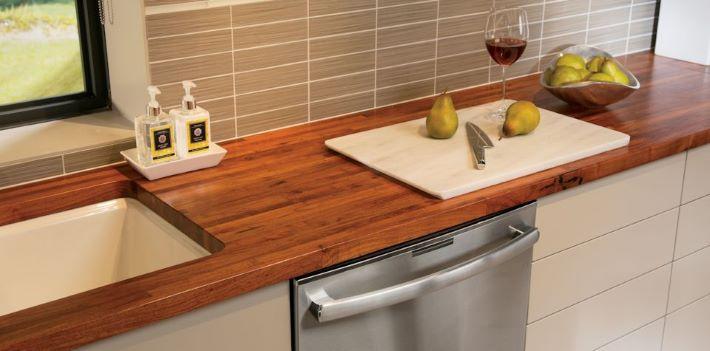 Beautiful wood countertops are durable and can stand up to daily use and abuse