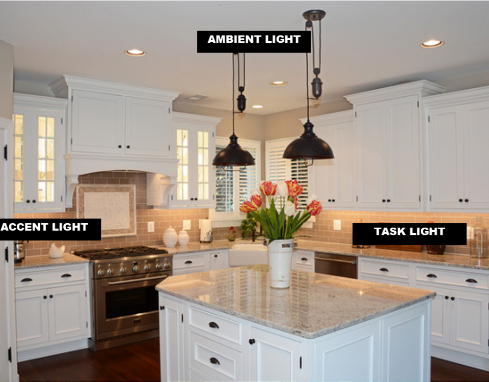 Kitchen Design Partner recommends using layers of LEDs in your remodeled kitchen