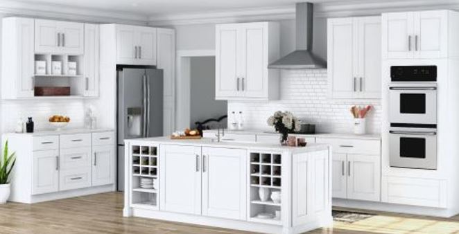 Use both solid wood and MDF for painted cabinet doors