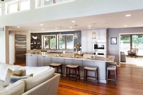 An open concept floor plan is a kitchen remodeling choice you won't regret