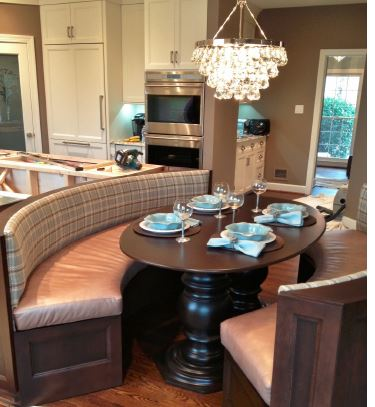 Personalize kitchen seating with a banquette