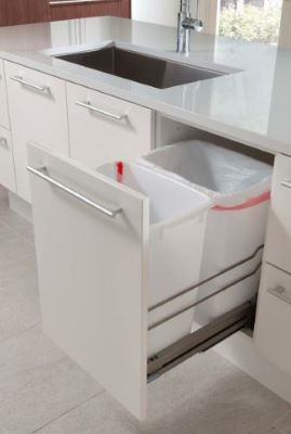 pull out double trash bins with soft close