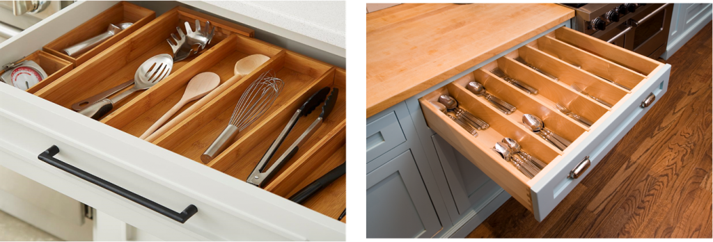 Creative storage at its best - utensil and silverware storage