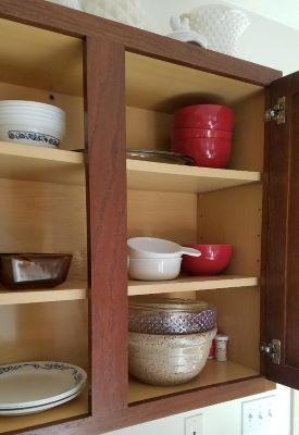 framed cabinet with center stile