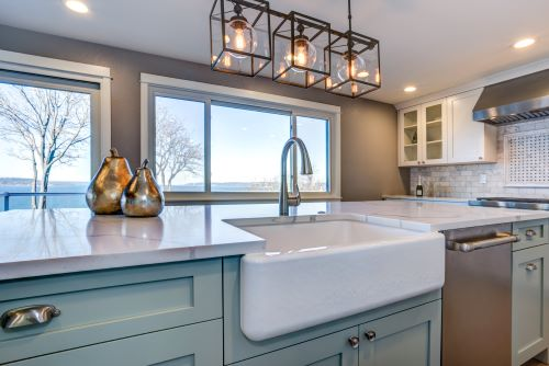 Kitchen cabinet color trends call for pastels as well as bold
