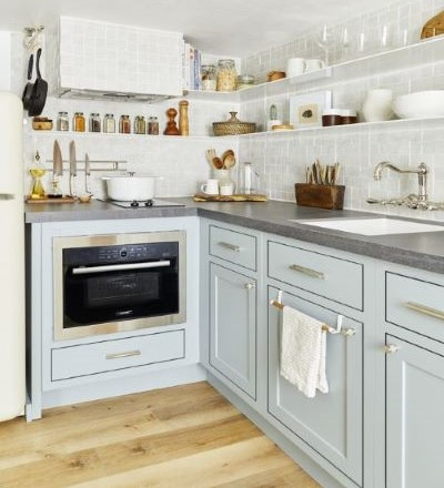 pastel colors in Shaker Style Kitchen