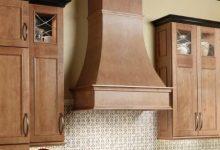 wood range hood with chimney